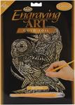 "Owls - Gold Foil Engraving Art Kit 8""X10"""