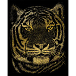 "Bengal Tiger - Gold Foil Engraving Art Kit 8""X10"""