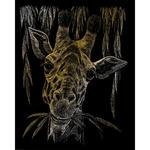 """Giraffe - Gold Foil Engraving Art Kit 8""""X10"""""""