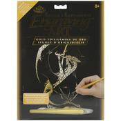 "3 Headed Dragon - Gold Foil Engraving Art Kit 8""X10"""