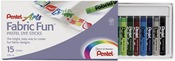 Assorted Colors - Fabric Fun Pastel Dye Sticks 15/Pkg