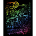 "Howling Wolves - Rainbow Foil Engraving Art Kit 8""X10"""
