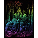 "Wizard - Rainbow Foil Engraving Art Kit 8""X10"""
