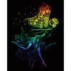 "Dancing Fairy - Rainbow Foil Engraving Art Kit 8""X10"""