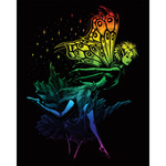 "Dancing Fairy - Rainbow Foil Engraving Art Kit 8""X10"""