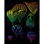 "Hot Air Balloons - Rainbow Foil Engraving Art Kit 8""X10"""