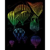 "Hot Air Balloons - Rainbow Foil Engraving Art Kit 8""X10"""