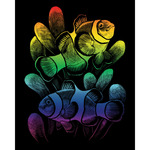 "Clownfish - Rainbow Foil Engraving Art Kit 8""X10"""