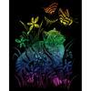 "Kitten & Butterflies - Rainbow Foil Engraving Art Kit 8""X10"""