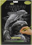 "Dolphins - Silver Foil Engraving Art Kit 8""X10"""