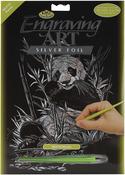 """Panda - Silver Foil Engraving Art Kit 8""""X10"""""""