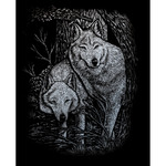 "Wolves In The Trees - Silver Foil Engraving Art Kit 8""X10"""