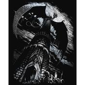 """Dragon Tower - Silver Foil Engraving Art Kit 8""""X10"""""""