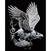 "Screaming Griffin - Silver Foil Engraving Art Kit 8""X10"""