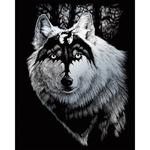 """Dragon Wolf - Silver Foil Engraving Art Kit 8""""X10"""""""