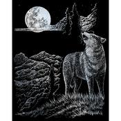 "Wolf Moon - Silver Foil Engraving Art Kit 8""X10"""