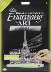"Eiffel Tower - Silver Foil Engraving Art Kit 8""X10"""