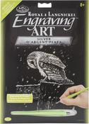 """Snowfall At Night - Silver Foil Engraving Art Kit 8""""X10"""""""