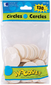 Circles - Woodsies Shapes 130/Pkg
