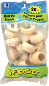 """Natural 1.125""""X.5"""" 20/Pkg - Woodsies Doll Pin Stands"""