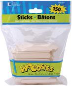 "Natural 2.5"" 150/Pkg - Woodsies Mini Craft Sticks"
