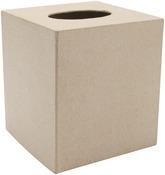 """5""""X5"""" - Paper-Mache Tissue Box"""