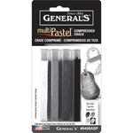 Gray Tones - MultiPastel Compressed Chalk Sticks 4/Pkg
