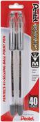 Black - Pentel R.S.V.P. Ball Point Pens Medium 2/Pkg