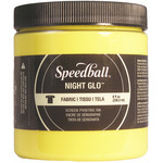 Yellow - Night Glo Fabric Screen Printing Ink 8oz