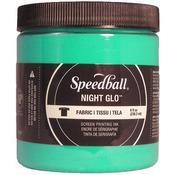 Green - Night Glo Fabric Screen Printing Ink 8oz