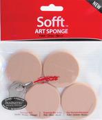 Round - PanPastel Sofft Art Sponges 4/Pkg