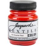 Scarlet Red - Jacquard Textile Color Fabric Paint 2.25oz