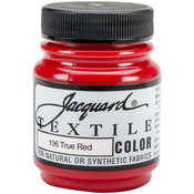 True Red - Jacquard Textile Color Fabric Paint 2.25oz