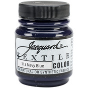 Navy Blue - Jacquard Textile Color Fabric Paint 2.25oz