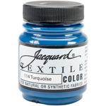 Turquoise - Jacquard Textile Color Fabric Paint 2.25oz