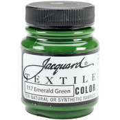 Emerald Green - Jacquard Textile Color Fabric Paint 2.25oz
