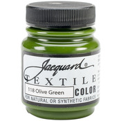 Olive Green - Jacquard Textile Color Fabric Paint 2.25oz