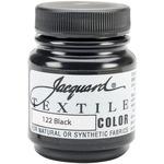 Black - Jacquard Textile Color Fabric Paint 2.25oz