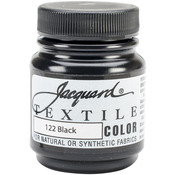 Black - Jacquard Textile Color Fabric Paint 2.25oz