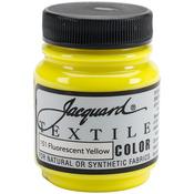 Fluorescent Yellow - Jacquard Textile Color Fabric Paint 2.25oz