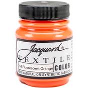 Fluorescent Orange - Jacquard Textile Color Fabric Paint 2.25oz
