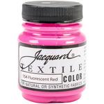 Fluorescent Red - Jacquard Textile Color Fabric Paint 2.25oz