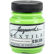 Fluorescent Green - Jacquard Textile Color Fabric Paint 2.25oz