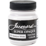 Super Opaque White - Jacquard Textile Color Fabric Paint 2.25oz