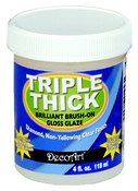 4oz - Triple Thick Brilliant Brush-On Gloss Glaze