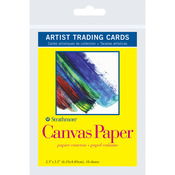 "Canvas - Strathmore Artist Trading Cards 2.5""X3.5"" 10/Pkg"