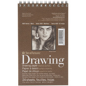 "24 Sheets - Strathmore Medium Drawing Spiral Paper Pad 4""X6"""
