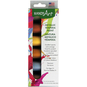 Metallic - Handy Art Tempera Paint Kit .75oz 6/Pkg