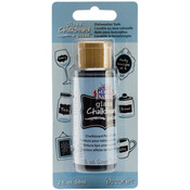 Black - Gloss Enamels Glass Chalkboard Paint 2oz Carded