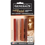 Earthtones - MultiPastel Compressed Chalk Sticks 4/Pkg